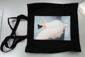 Melnā parauga maisiņu no AK klientiem izdrukāja dtg tekstila printeris