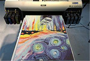Audekla paraugs no A2 UV printera WER-EH4880UV