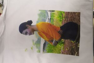T krekli drukāšanas paraugs Birmas klientam no WER-EP6090T printera