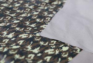 Tekstilizstrādes paraugs 1, izmantojot digitālo tekstilmateriālu iespiedmašīna WER-EP7880T