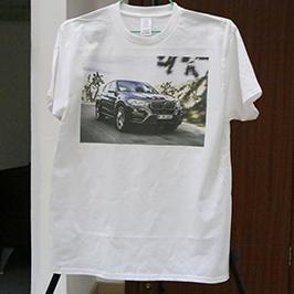 Balts t-kreklu drukas paraugs ar A3 t-kreklu printeri WER-E2000T 2